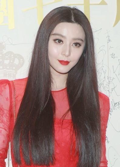 淑女范长直发发型图片_发型设计