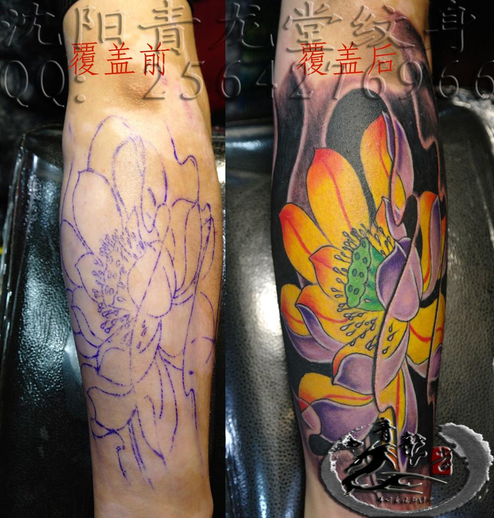 男包腿纹身  包腿纹身黑白无常  包腿鱼纹身图案图片