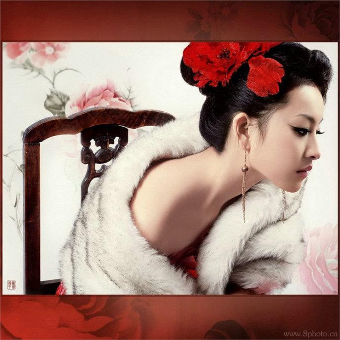 红衣古装美女素材 谢佳琦的主页