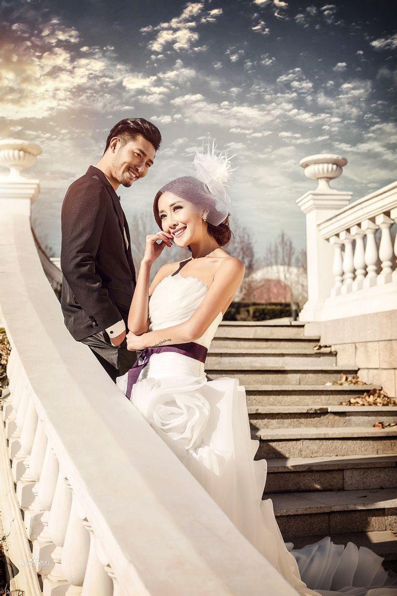 v视觉摄影欧式婚纱照图片