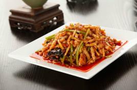 鱼香猪肉丝核桃泡青蜂蜜图片
