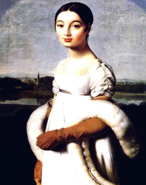 《里维埃夫人肖像》是法国古典主义画家安格尔于1806年创作的一幅油画图片