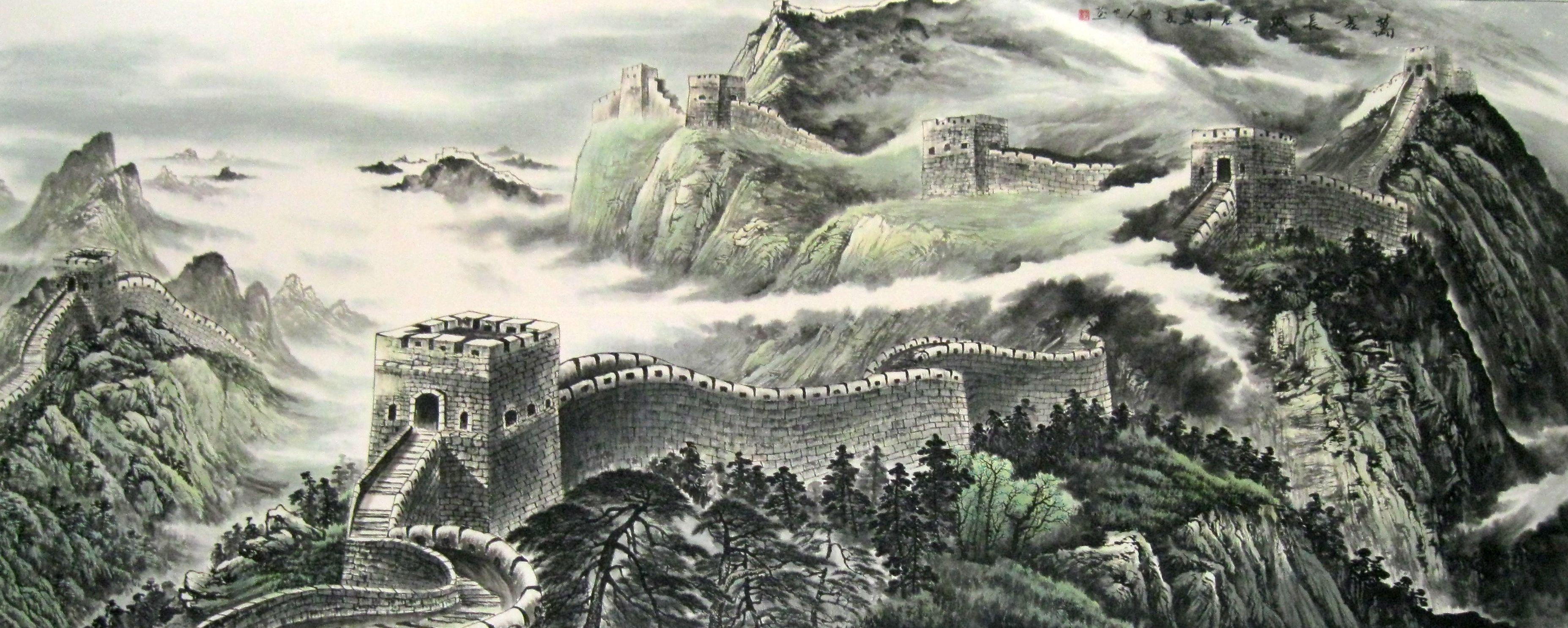 中国画流派之一.至宋初始分为 北方派系和江南派系.图片