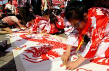 上海少年兒童百米長卷書畫活動