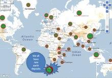 全球稀土蕴藏量示意图(资料图)