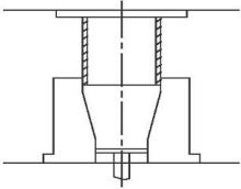 同心异径管的缩径成形示意图