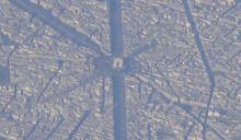以凯旋门为中心的巴黎城区航拍