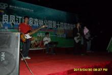 红绿灯乐队南宁良凤江国家森林公园第十四届旅游节演出图片