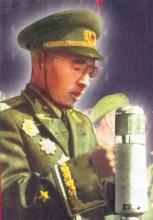 在国庆十周年阅兵式上的林彪