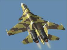 苏-37矢量推进战斗机 精彩图片