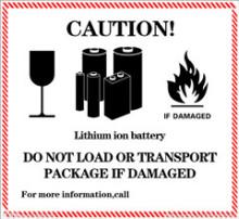 外包装贴有锂电池操作标签图片