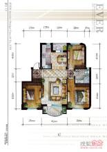 半岛印象三室户型图