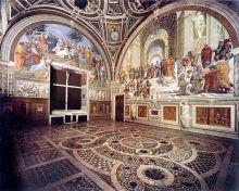 梵蒂冈博物馆里的拉斐尔壁画