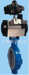 2产品简图编辑 气动衬氟切断(调节)蝶阀 3技术参数编辑   阀体材质图片