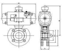 q671气动对夹球阀图片