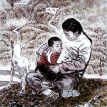 上天厚爱勤奋的人,七十年代初艾红旭有幸在长安画派创始人石鲁身边图片