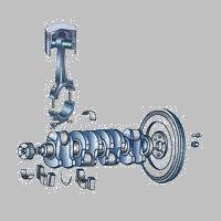 并承受气缸中气体压力,通过活塞销将作用力传给连杆,以推动曲轴旋转.图片