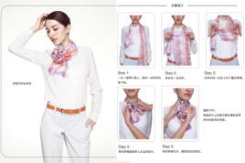 丝巾装饰系法图片