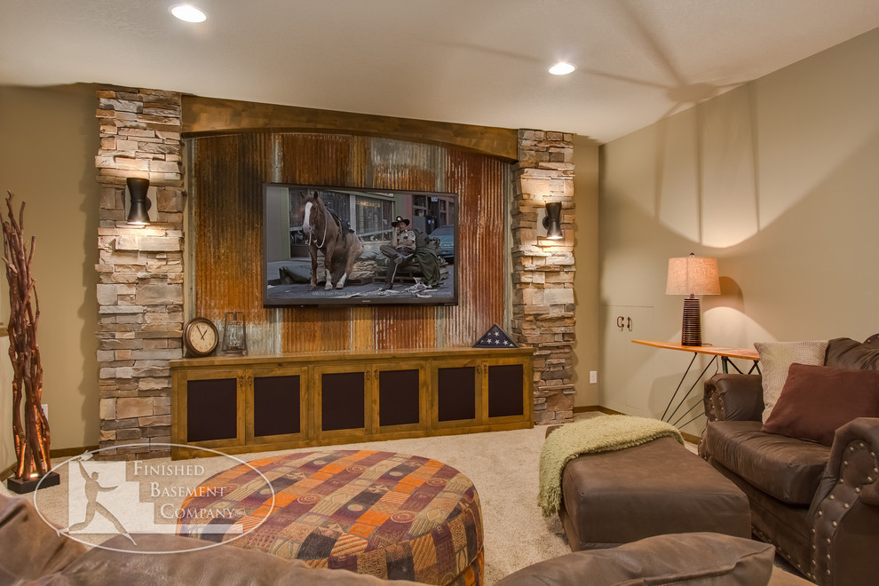 欧式小客厅电视背景墙装饰图片