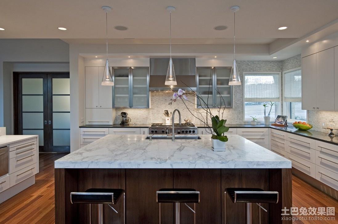 美式风格设计厨房整体橱柜装修效果图图片