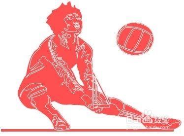 排球垫球技巧和分类 高清图片