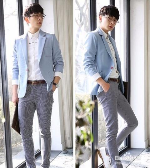 休闲西裤,时尚感十足.图片