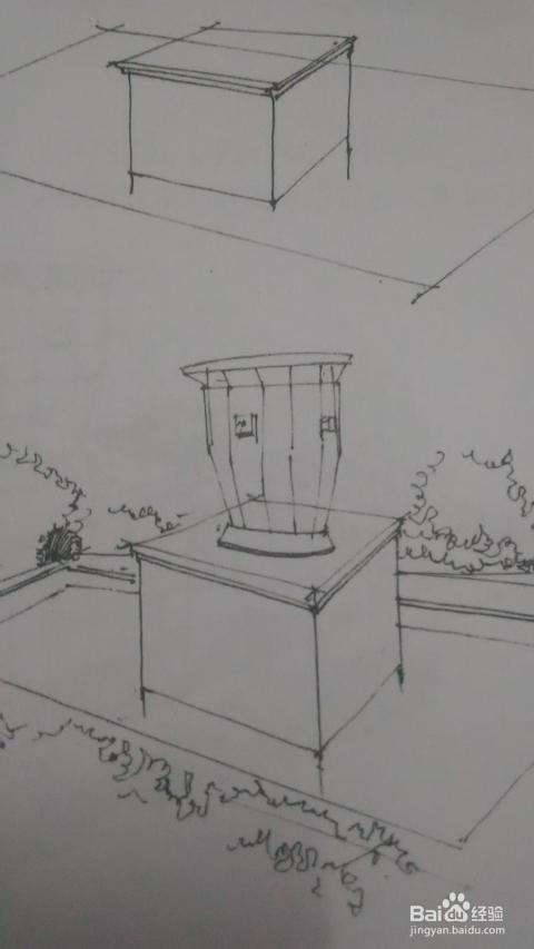 如何手绘室外景观雕塑