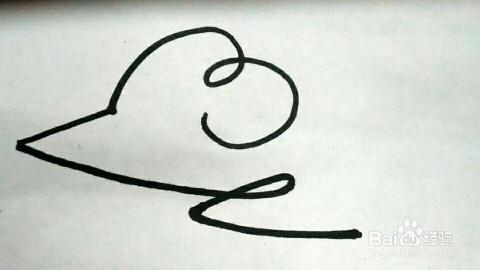 一笔画老鼠,怎样画