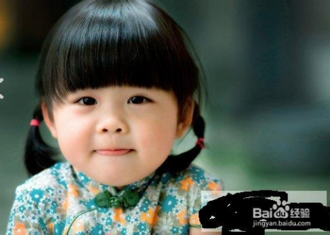 小女孩发型设计首选齐刘海 轻松变身甜美宝贝图片