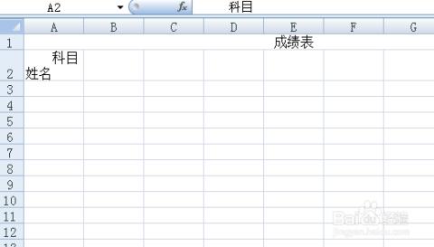 用excel00做表格_怎么用excel表格制作成绩表
