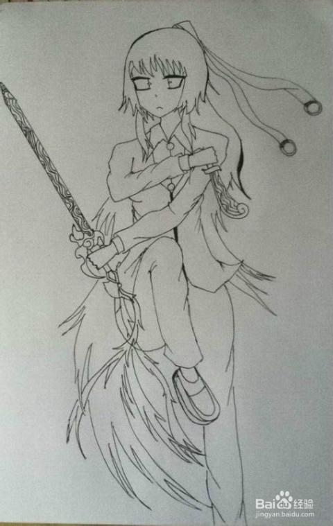 简单人物铅笔手绘画