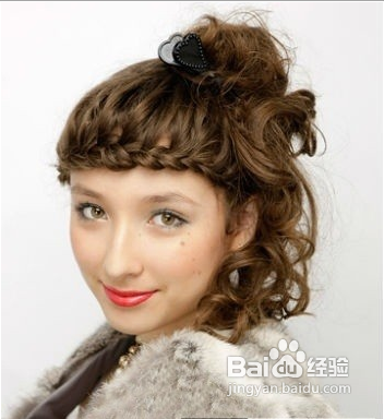 夏季甜美编发盘发发型图片