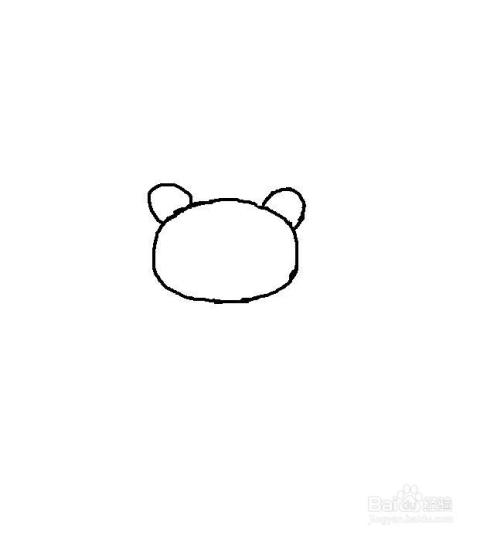在头上面画两小熊猫耳朵.图片