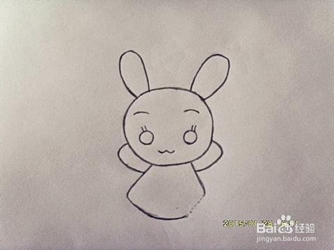 简笔画:如何教小朋友画可爱的小白兔?图片