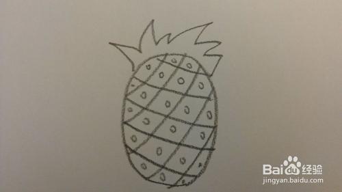 一分钟简笔画—跟我一起画菠萝