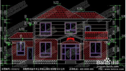 农村二层带露台小别墅图纸及效果图