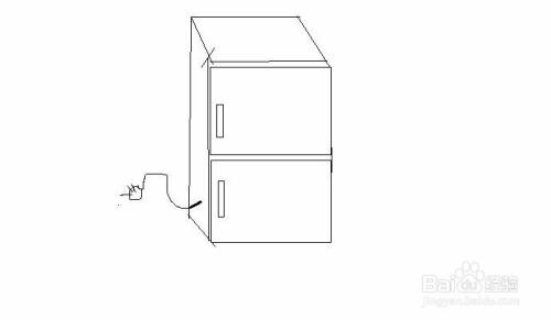 家用小冰箱手绘画法图片