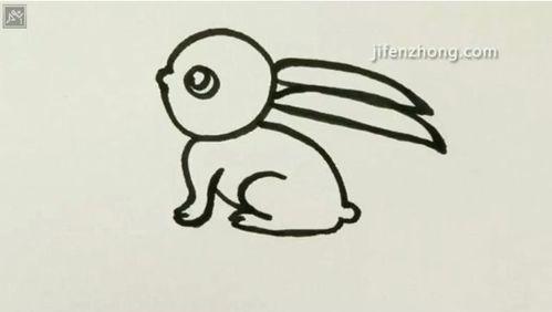 怎样画小兔子1图片