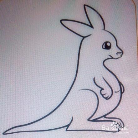 简笔画:袋鼠图片