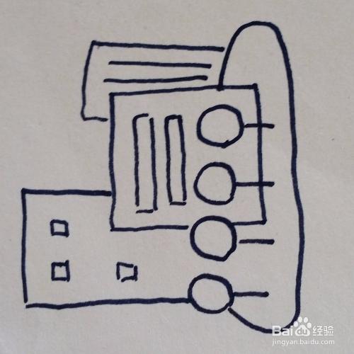 高楼大厦简笔画画法