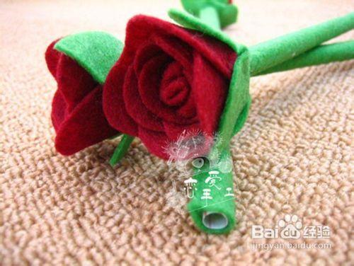 不织布玫瑰花的做法图片