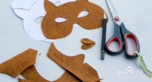 可爱的儿童创意手工DIY狐狸面具图片