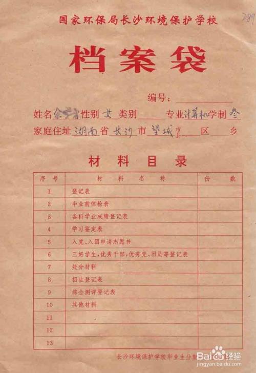 人事档案 2