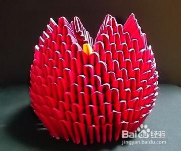 3d立体折纸——火莲花图片