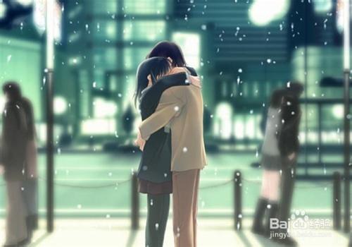 冬日情侣拥抱(8)