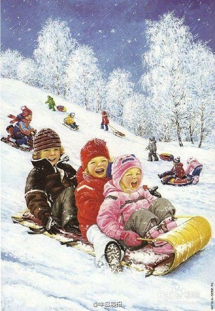 4 堆雪人是严冬时孩子们最好的玩法,一到下雪了孩子们就拍手称快,待图片