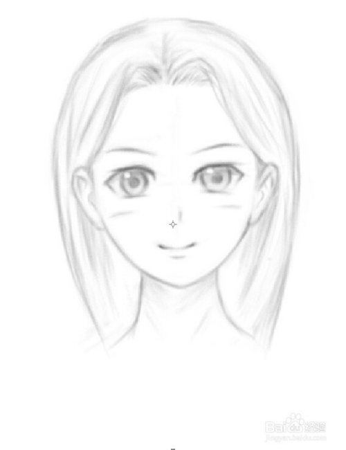 素描女人鼻子的画法图片