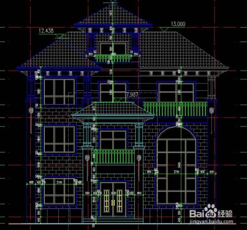 三层带旋转楼梯农村建房设计图纸