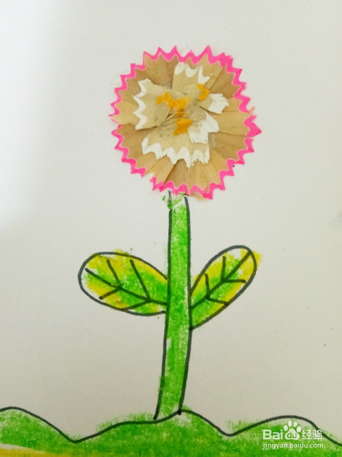 儿童创意彩铅之铅笔屑粘贴画图片
