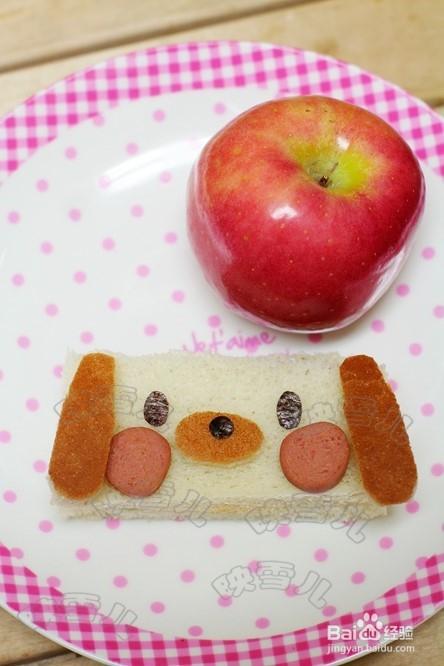 如何做儿童早餐小狗三文志图片